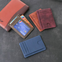 Bag Small Mini Leather  Card Package Id Card Holder Money Pocket Wallet Case