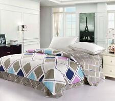 100% Cotton King Size Quilt Doona Duvet Blanket Cover Pillowcase 3PCs Set - Prag