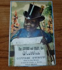 Late 1800s Trade / Advertising Card Black Americana Matthes Cough Syrup