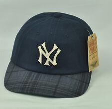 MLB American Needle New York Yankees Navy Blue Plaid Sun Buckle Adjustable Sport
