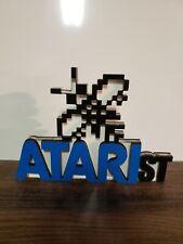 Atari ST sign display stand for shelf or gameroom (Atari show it off) computer