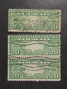 US # C9; Used; VLHM; Set of 3 Stamps; CV $ 6.00