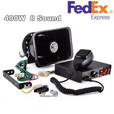400W Universal Loud Warning Alarm Police Fire Siren Horn PA Speaker MIC System