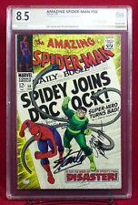 Amazing Spider-Man #56 PGX (not CGC) graded 8.5 VF+ signed STAN LEE JOHN ROMITA!