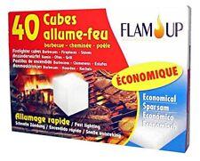 Allume-Feu Economique 40 Cubes Barbecue Cheminée Poêle Allumage rapide FLAM'UP