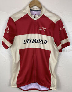 Specialized Full Front Zipper SBC Red/tan Bike Cycling Jersey-mens XL
