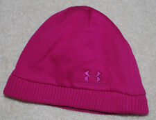 Under Armour Womens Beanie Hat OSFA Storm Lined BTS Winter Hats Pink Gray Logo