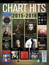 Chart Hits of 2015-2016 Sheet Music Piano Vocal Guitar SongBook NEW 000153899