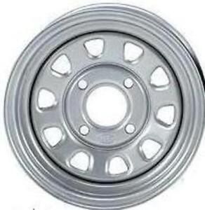 ITP Delta Silver Steel Wheel Front Honda 02-14 TRX650/680 Rincon 4x4-371333