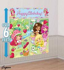 Strawberry Shortcake Scene Setter Birthday Wall Banner Decor party Supply Favor
