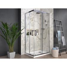Box doccia angolare quadrato rettangolare profilo cromato cristallo trasparente