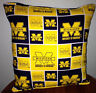 Michigan  University Pillow Football Pillow Pillow NCAA HANDMADE In USA