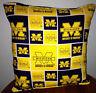 Michigan  University Pillow Football Pillow Pillow NCAA HANDMADE In USA