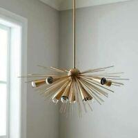 MID Century Modern Sputnik Brass stylish Chandelier with 10 Arm light chandelier