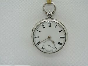 1906 English Fusee Lever pocket watch solid silver very good condition + working