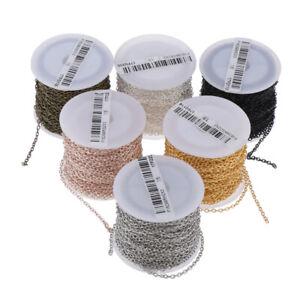 1Rolle Metallkette Gliederkette Kabelkette zum Basteln für Halskette