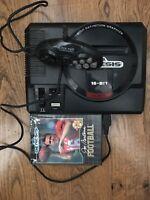sega genesis 16 bit console+super Pad Controller Joe Montana Game In Case Lot