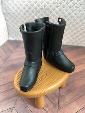Ken Black Harley Davidson Leather Motorcycle Boots Doll Barbie