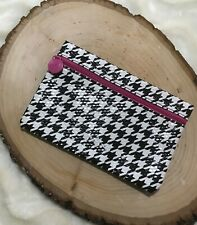 IPSY BLACK & WHITE HOUNDSTOOTH MAKEUP COSMETIC BAG AUGUST 2015