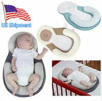 Baby Bed Mattress Baby Pillow Newborn Baby Infant Flat Head Crib Mattress US