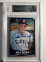 1989 Pacific Legends Bobby Doerr Autograph BGS Auto Red Sox HOF Card Signed