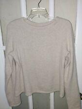Carole Little Light Beige Grey Long Sleeve Angora/Nylon Knit Sweater Sz M/L Euc
