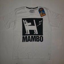NWT 100% Mambo Farting Dog XL Mens T-Shirt White Black