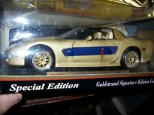 1:18 Maisto 2003 Gold Chevrolet Corvette Dick Gulstrand Signature Edition