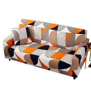 1 2 3 4 Seater Sofa Covers Geometric Pattern Stretch Slipcover Couch Cover Decor