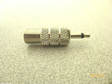"""Adapter converter F TV female jack to 3.5mm 1/8"""" mono male plug pin RF COAXIAL"""
