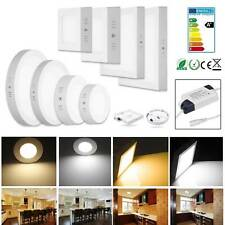 LED Panel Aufputzlampe Deckenlampe Aufputz Aufbau Wandleuchte mit Trafo 6W - 24W