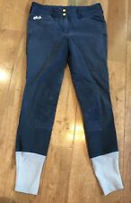 Womens Equine Couture Regatta Knee Patch Breeches Deep Navy Gray 28
