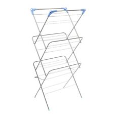 Folding Cloth Dryer Airer Cloths Laundry Rack Rail 3 Tier Indoor Outdoor Garden