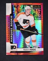 2017-18 OPC Platinum Red Prism Marquee Rookies #157 Robert Hagg /199