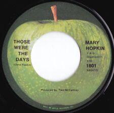 Mary Hopkin ORIG US 45 Those were the days NM '68 Apple 1801 Paul McCartney