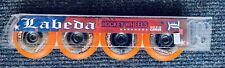 NEW Labeda Asphalt Outdoor Inline Roller Hockey Wheels 80mm Hard Orange 4-Pack