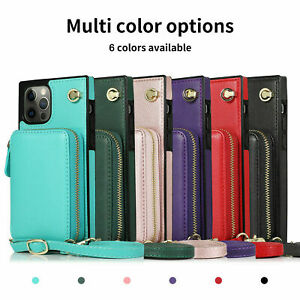 2-in-1 Crossbody iPhone Cover with Drop Protection Adjustable Rope Black, iPhone 6//7//8 HoldingIT Crossbody Phone Case with Detachable Lanyard Compatible with iPhone 6//7//8