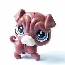 Littlest Pet Shop LPS RUMPLES RIMPLEY #57 PUG DOG figure in the City Park HA37