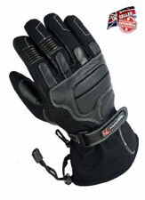 GearX Men's Leather Motorcycle Gloves