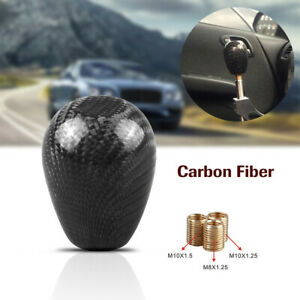 Gear Shift Head Knob Carbon Fiber Ball Style Black High Resistance