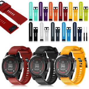 For Garmin Fenix 5X 3 HR 6X 6Pro 26mm Replace Silicone Watch Band Wrist Strap d