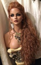 Beautiful, Long, Strawberry golden Curls Heat Friendly, Lace Front Wig!