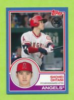 2018 Topps 1983 Blue Border SP Rookie - Shohei Ohtani (83-1) Los Angeles Angels