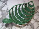 BoHo Decor Rattan Green Leaf-Shaped Basket