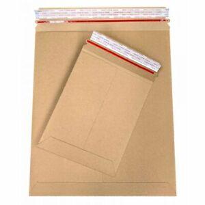 6 x 6 Stay Flat Kraft Carboard Mailer Tear Tab-28pt, Self-Seal 200 Pcs