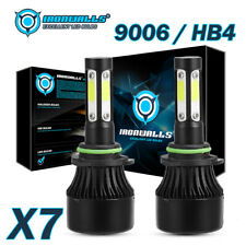 IRONWALLS 2400W 9006 HB4 LED Headlight Bulb Kit 4-Sided Hi / Lo Beam Light 6500K