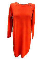 Womens M&S Per Una With Wool Orange Fine Knit Jumper Dress Size UK 14