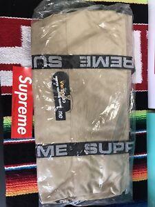 supreme duffle bag ss18 Tan New In Bag