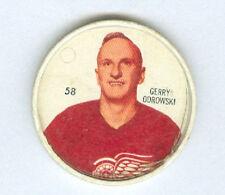 GERRY ODROWSKI 1960-61 Salada / Shirriff Coin #58 Hockey VG 60 DETROIT RED WINGS