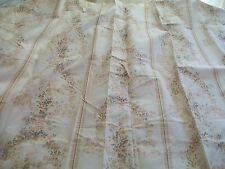 "Cream curtains  with traditional design in soft shades 66"" x 72""  BNIB"